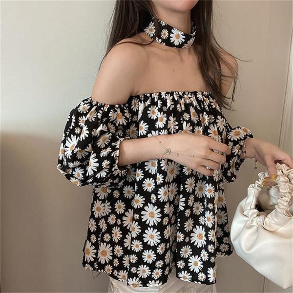 vår och sommar kort kjol kostym tvådelad minikjol Black S