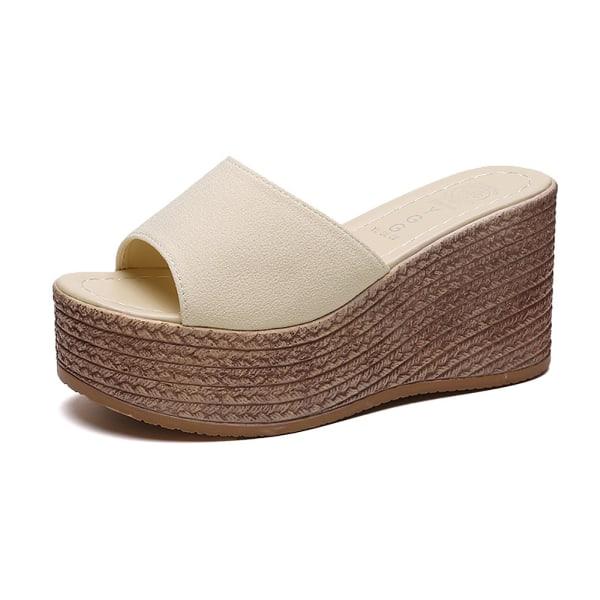 dam plattform sandaler wedge slide sandaler