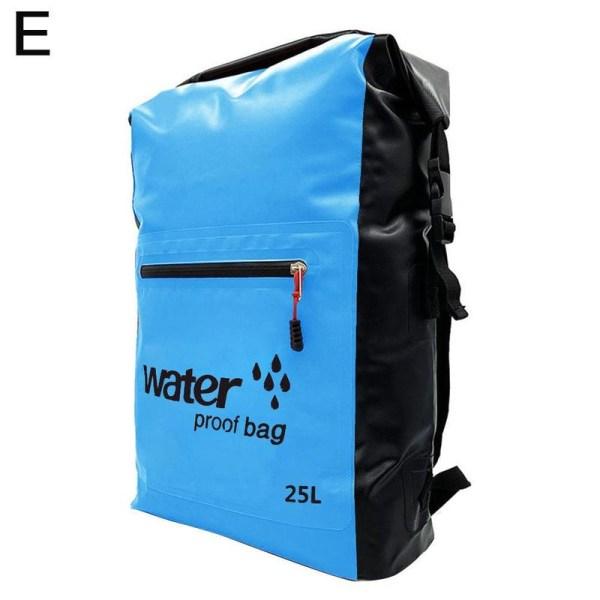 25L utomhus vattentät väska ryggsäck vikbar campingförvaring