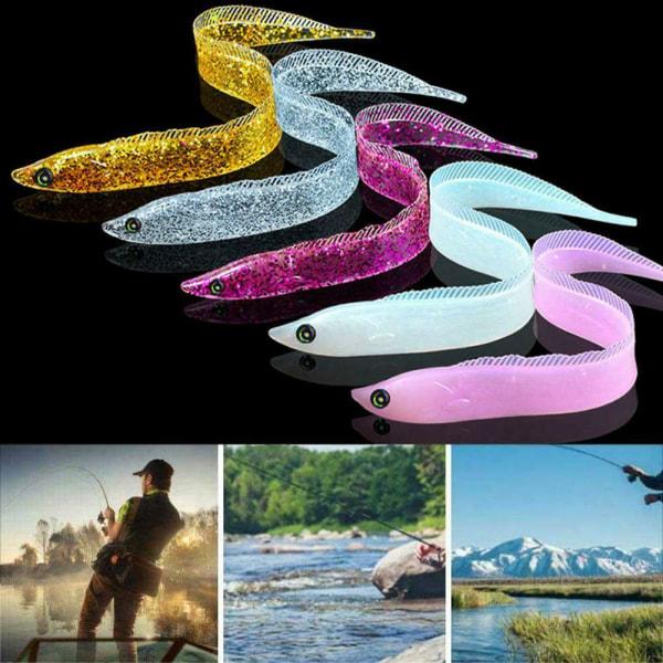 5st 28mm fiskebeten hårstjärna mjuk swimbait fisk krokar hög