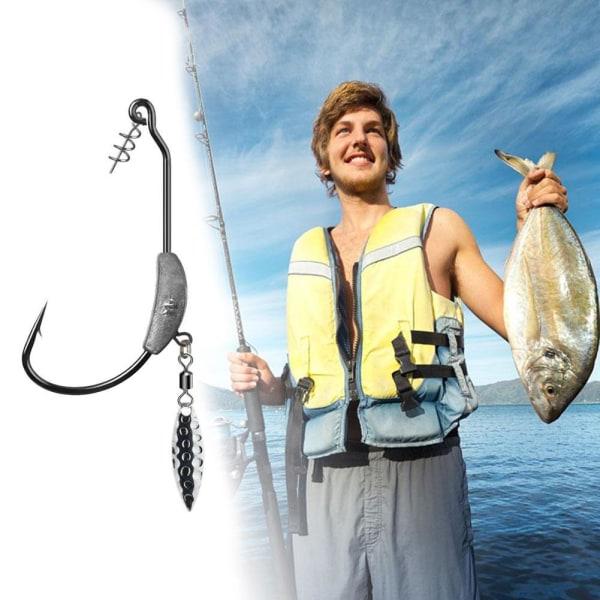 Fiskekrokar Blyvägd vevkrok med metallsked Lägg till bly