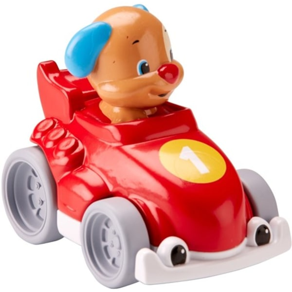 Fisher Price Little People Fordon Bilar Race with Animal Red Car