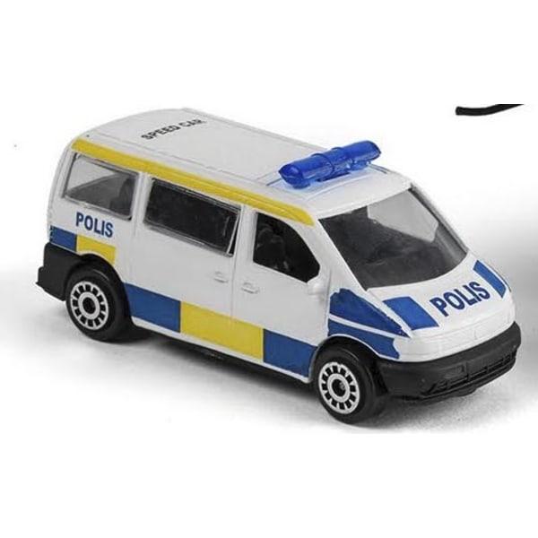 VN Leksaker Bilar Cars Polisbil Van Buss 40735 8cm