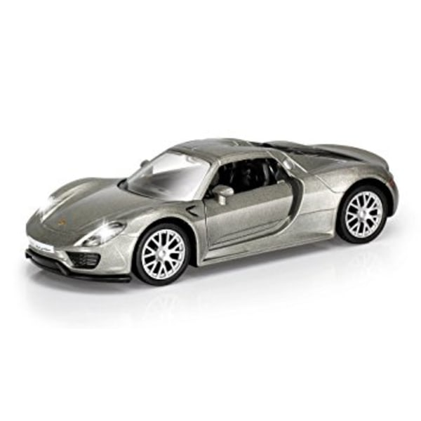 VN Leksaker Bilar Cars metall 1:64 Porsche 918 Spyder Grå 3027