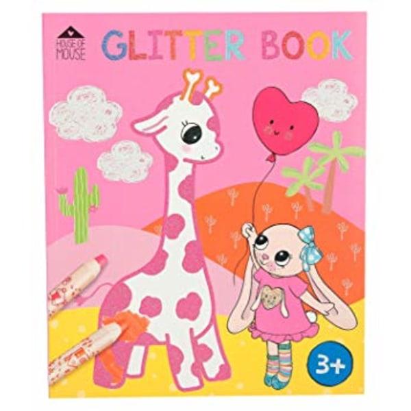 Motto House Of Mouse Pyssel Målarbok Glitterbok Glitterbook Rosa