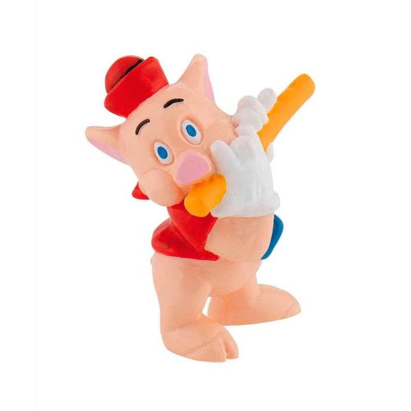 Bullyland Figur Disney De tre små grisarna - Röd Fifer Flöjt