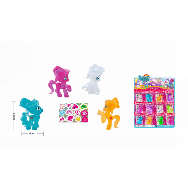 Suntoy Leksaker Little Häst Pony mini Crystal 4-5cm Välj 4. Orange