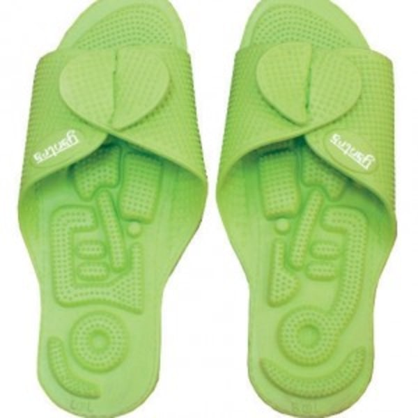 Yantra Twinflex sko sandal Toffel Vändbar Lime Gröna 34/37