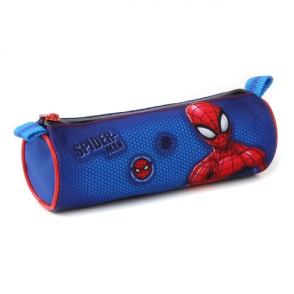 ZTR Pyssel Pennfodral Pennfack Disney Spiderman Blått Runt  20cm