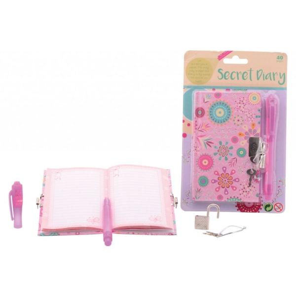 Dinotoys SECRET Diary Dagbok 13x8cm med lås och UV penna