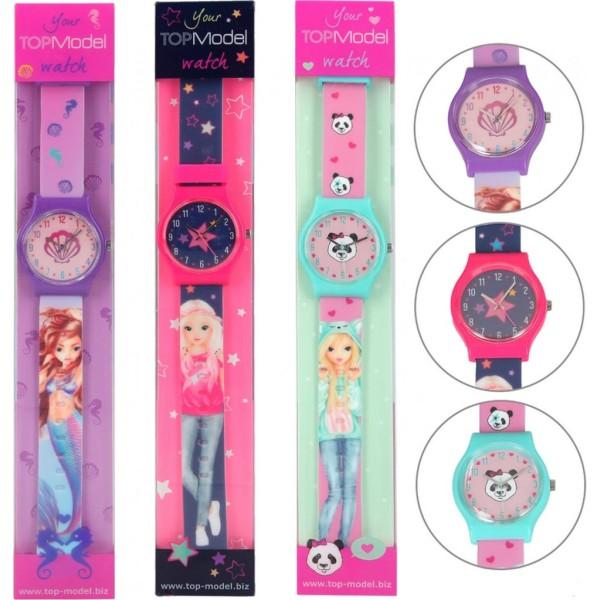 Top Model Armbandsur Klocka Watch Silicon Barn Rosa