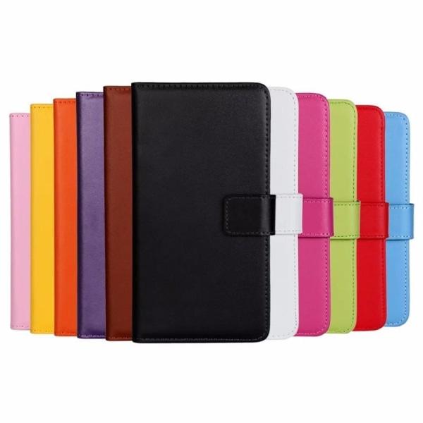 Plånboksfodral Äkta Skinn Samsung A21s - fler färger Brun