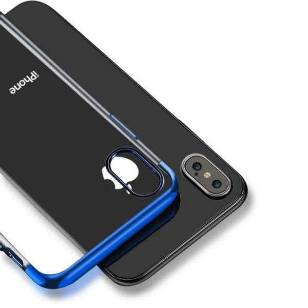 Design TPU-skal Electro Plating till iPhone Xs Max - fler färger Svart
