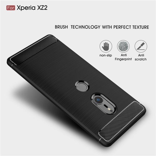 Stöttåligt Armor Carbon TPU-skal Sony Xperia XZ2 - fler färger Svart
