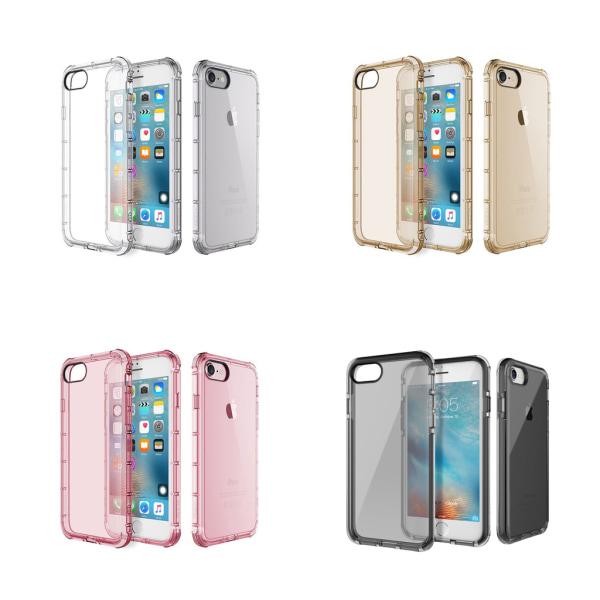 Extra tåligt silikonskal iPhone 7 - fler färger Transparent