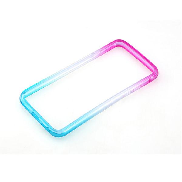 Gradient färgade Bumper till iPhone 6/6S - Olika färger MultiColor Lila/Gul