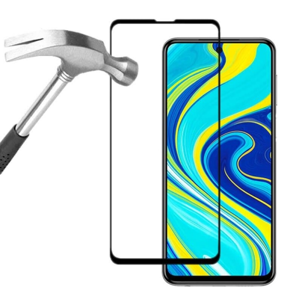 Heltäckande Härdat Glas till Xiaomi Redmi Note 9 Pro - Svart - f Svart