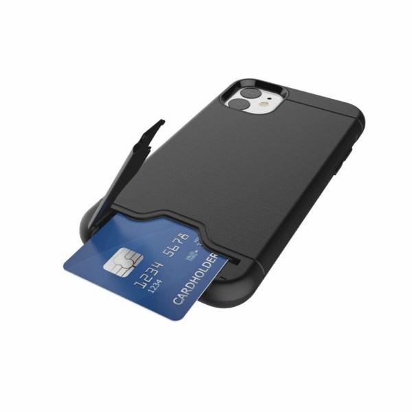 iPhone 11   Armor skal   Korthållare - fler färger Silver