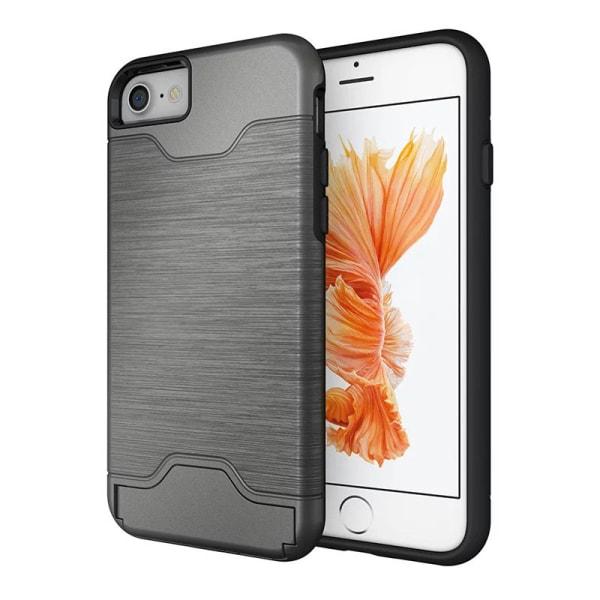 iPhone 6/6S | Armor skal | Korthållare - fler färger Silver
