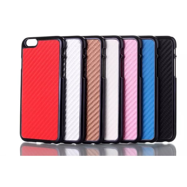 iPhone 6/6S Carbon fiber Skal - fler färger Brun