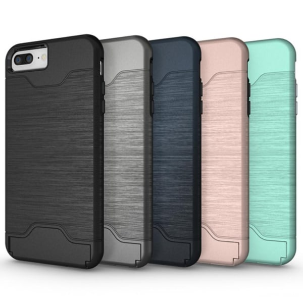 iPhone 7 PLUS | Armor skal | Korthållare - fler färger Turkos
