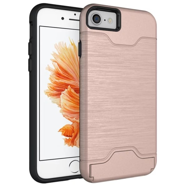 iPhone 8 | Armor skal | Korthållare - fler färger Rosa