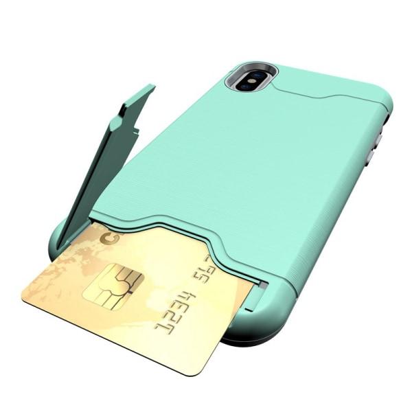 iPhone XR | Armor skal | Korthållare - fler färger Turkos