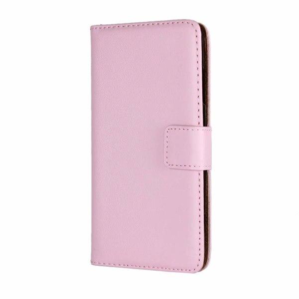 Plånboksfodral Äkta Skinn Samsung A52 5G - fler färger Ljusrosa
