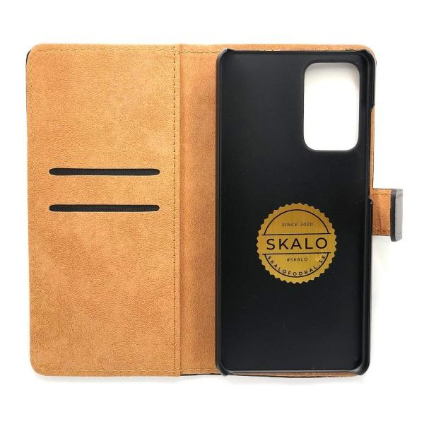 Plånboksfodral Äkta Skinn Samsung A52 5G - fler färger Svart