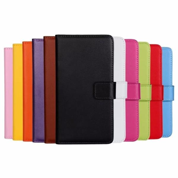 Plånboksfodral Äkta Skinn Samsung S20 - fler färger Vit