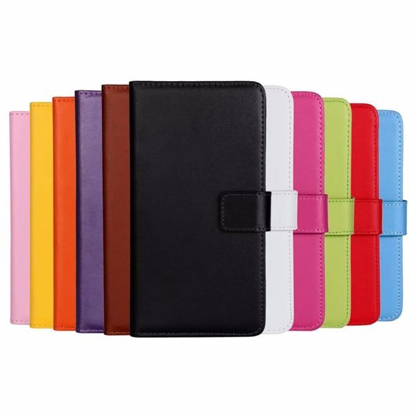 Plånboksfodral Äkta Skinn Sony Xperia L1 - fler färger Vit