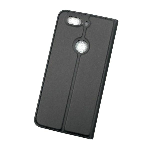 Plånboksfodral Ultratunn design Oneplus 5T - fler färger Mörkgrå
