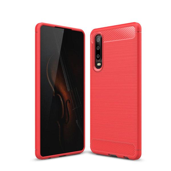 Stöttåligt Armor Carbon TPU-skal Huawei P30 - fler färger Röd
