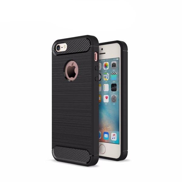 Stöttåligt Armor Carbon TPU-skal iPhone 5/5S/SE(1a generationen) Röd