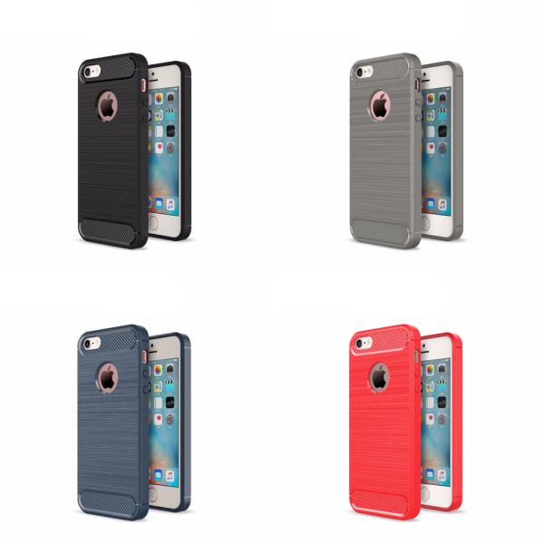 Stöttåligt Armor Carbon TPU-skal iPhone 5/5S/SE(1a generationen) Svart