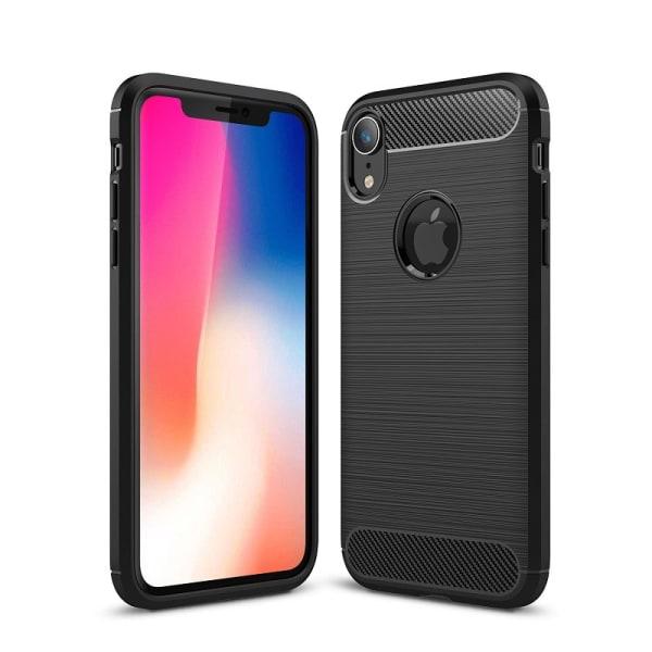 Stöttåligt Armor Carbon TPU-skal iPhone XR - fler färger Svart