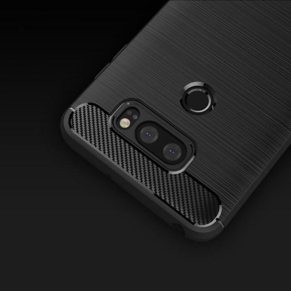 Stöttåligt Armor Carbon TPU-skal LG V30 - fler färger Svart
