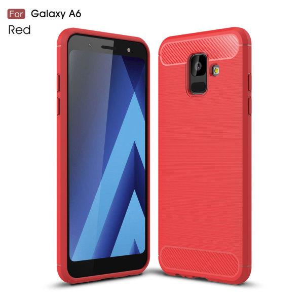 Stöttåligt Armor Carbon TPU-skal Samsung A6 2018 - fler färger Röd
