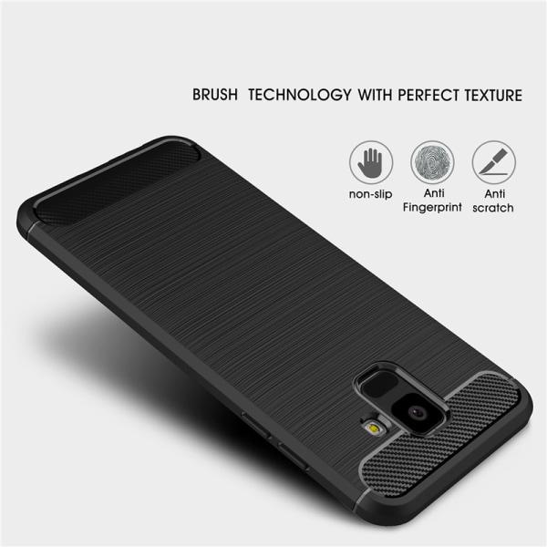 Stöttåligt Armor Carbon TPU-skal Samsung A6 2018 - fler färger Svart