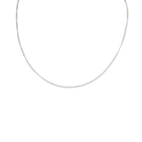 Tunt Silver Kedjehalsband Halsband Kedja Länk Silver 1,8mm silver