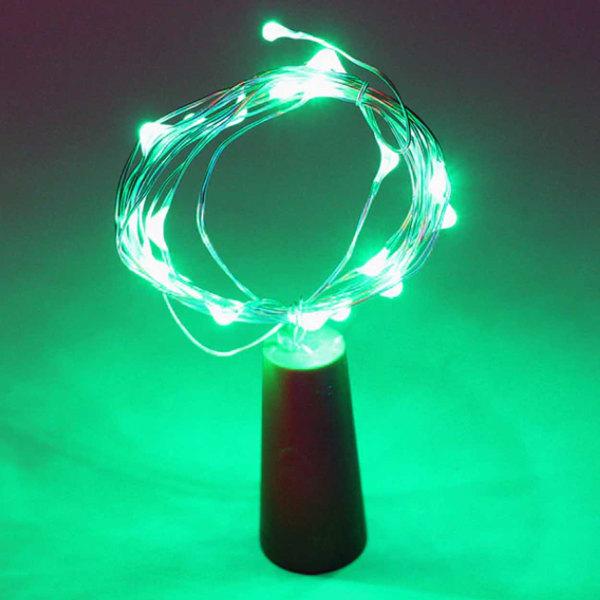 2-pack LED Ljusslinga Lampor Belysning för Flaskor Dekoration grön