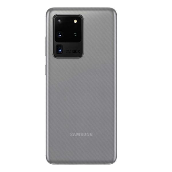 3-pack Galaxy S20 Ultra Kolfiber Skin Dekal Skyddsfilm Baksida transparent