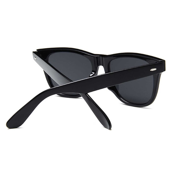 Svarta Wayfarer Solglasögon Rosa Spegelglas svart