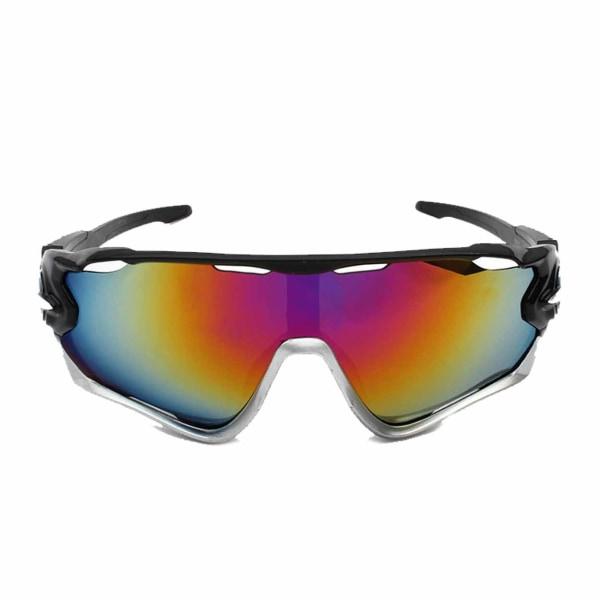 Cykelglasögon - Sport Solglasögon för Cykling Spegelglas svart