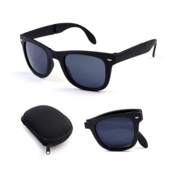 Vikbara Svarta Wayfarer Solglasögon svart