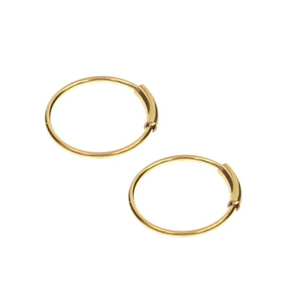 2-pack Guld Fake Piercing Öron Läpp Näsring Septum Läppring guld