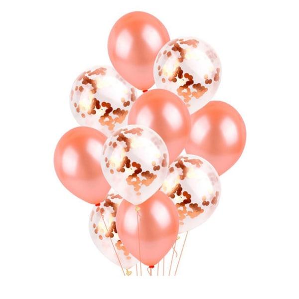 30-pack Ballonger Roséguld Konfettiballonger Födelsedag guld