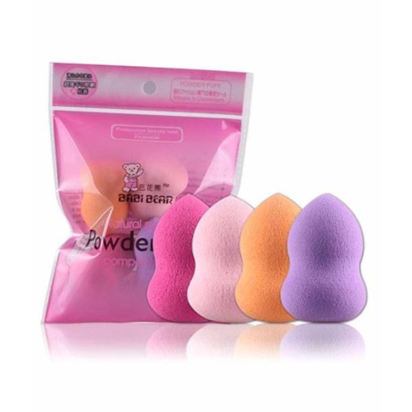 4-pack Sminksvamp Professional Makeup Beautyblender Puderpuff flerfärgad