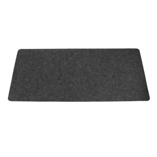 Skrivbordsunderlägg 80x40cm Grå Filt grå
