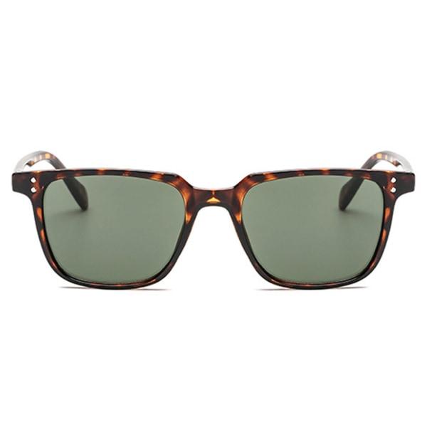 Fyrkantiga Sköldpaddsmönstrade Solglasögon brun
